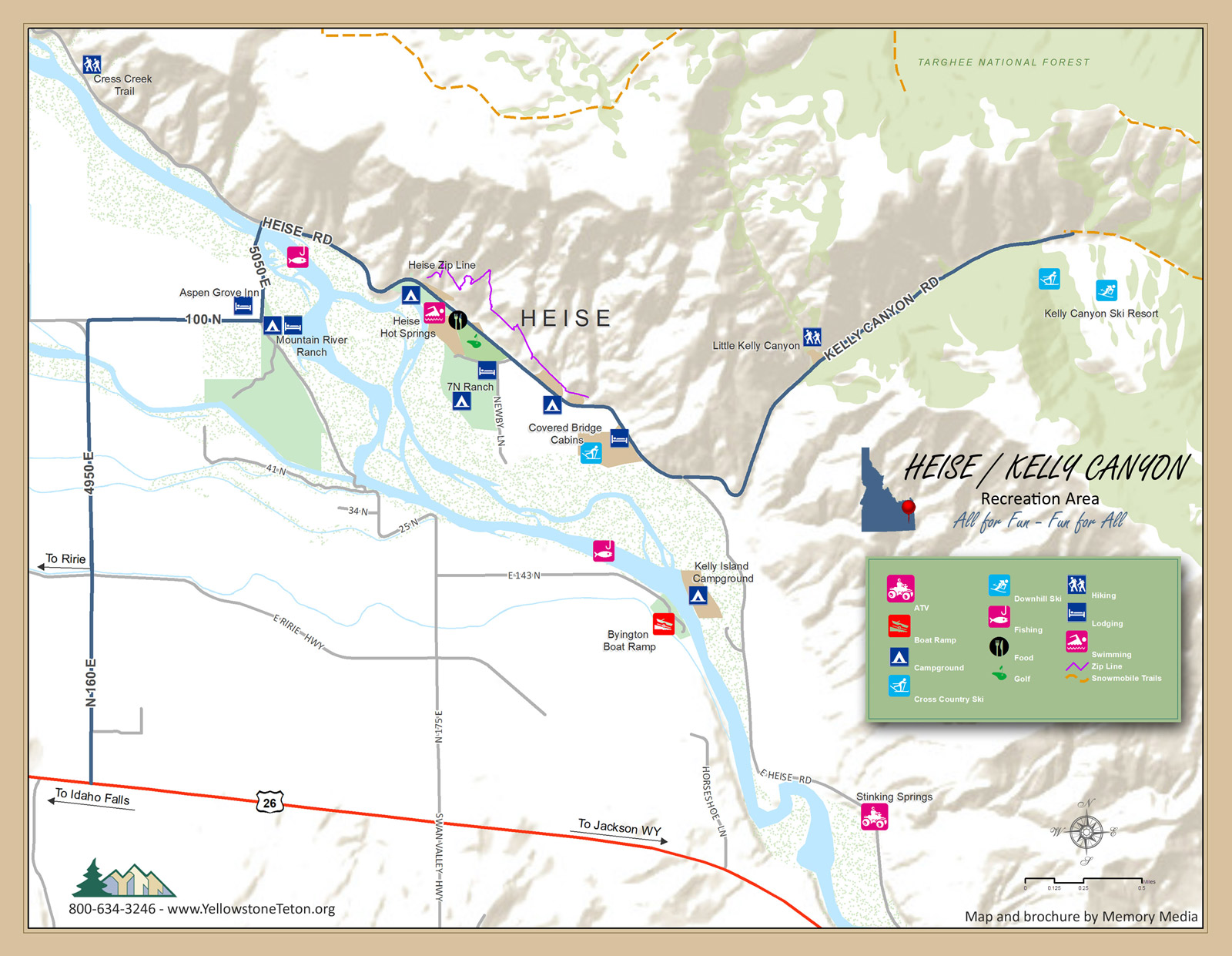 Public Lands Campgrounds Ririe Idaho Area Ririe Chamber - Idaho public lands map